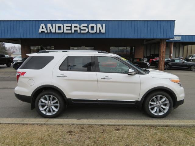 2014 White Platinum Metallic Tri-Coat Ford Explorer 4WD 4dr Limited 4 Door Automatic AWD SUV Gas V6 3.5L Engine