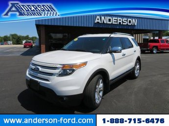 2014 White Platinum Metallic Tri-Coat Ford Explorer Limited AWD Automatic Gas V6 3.5L Engine SUV 4 Door