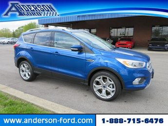 2019 Lightning Blue Metallic Ford Escape Titanium FWD Gas I4 2.0L Engine FWD 4 Door SUV