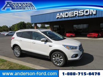 2017 White Platinum Metallic Tri-Coat Ford Escape Titanium 4 Door 4X4 SUV