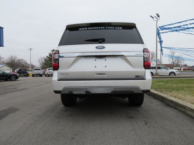 2019 White Platinum Metallic Tri-Coat Ford Expedition Max Limited 4x4 4X4 Gas V6 3.5L Engine Automatic