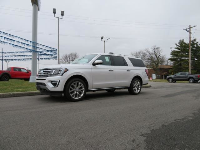 2019 White Platinum Metallic Tri-Coat Ford Expedition Max Limited 4x4 4X4 Automatic 4 Door