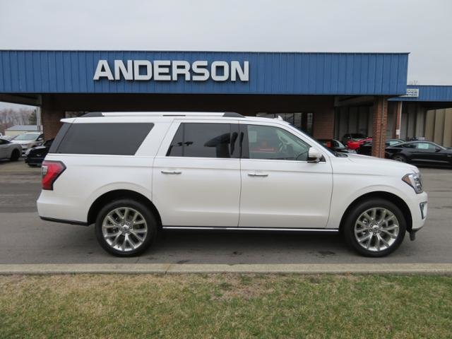 2019 White Platinum Metallic Tri-Coat Ford Expedition Max Limited 4x4 Gas V6 3.5L Engine 4 Door SUV 4X4 Automatic