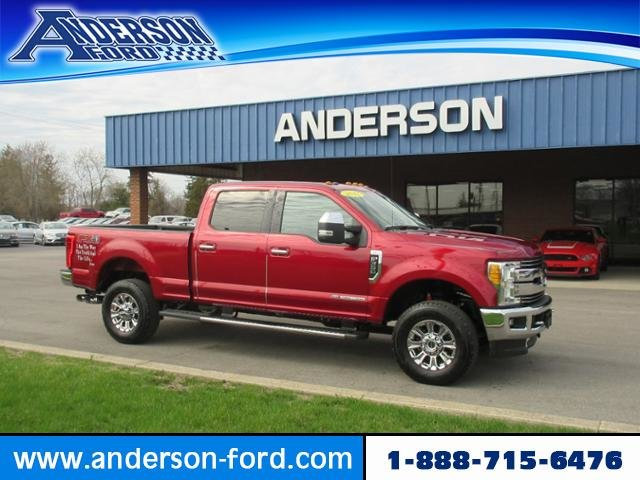 2017 Ruby Red Metallic Tinted Clearcoat Ford Super Duty F-350 SRW Lariat 4WD Crew Cab 6.75 Box Diesel I8 6.7L Engine Automatic 4 Door