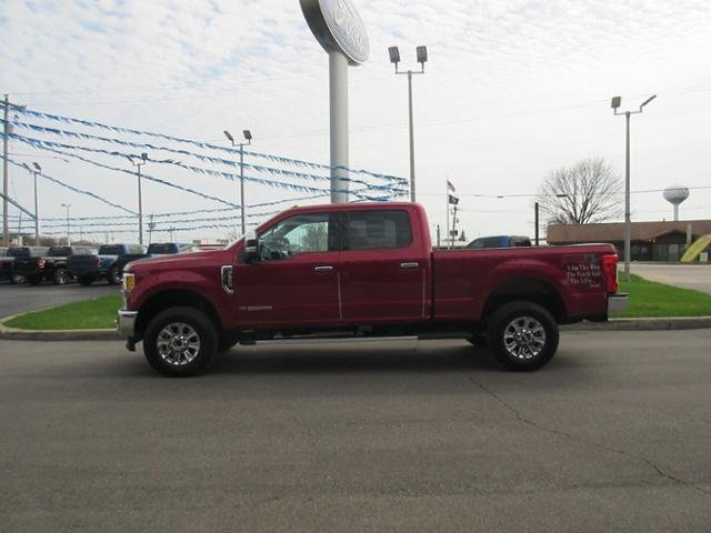 2017 Ruby Red Metallic Tinted Clearcoat Ford Super Duty F-350 SRW Lariat 4WD Crew Cab 6.75 Box Diesel I8 6.7L Engine Truck 4X4
