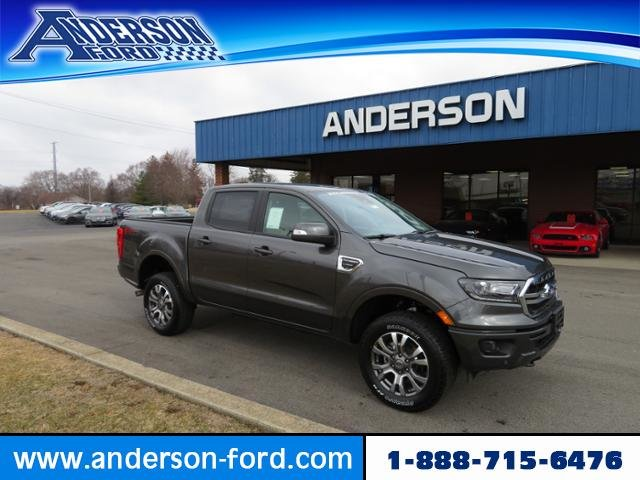 2019 Magnetic Metallic Ford Ranger LARIAT 4WD SuperCrew 5 Box 4X4 Gas I4 2.3L Engine Truck Automatic 4 Door