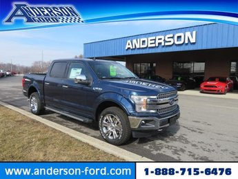 2019 Blue Jeans Metallic Ford F-150 LARIAT 4WD SuperCrew 5.5 Box 4 Door Automatic 4X4 Gas V6 3.5L Engine