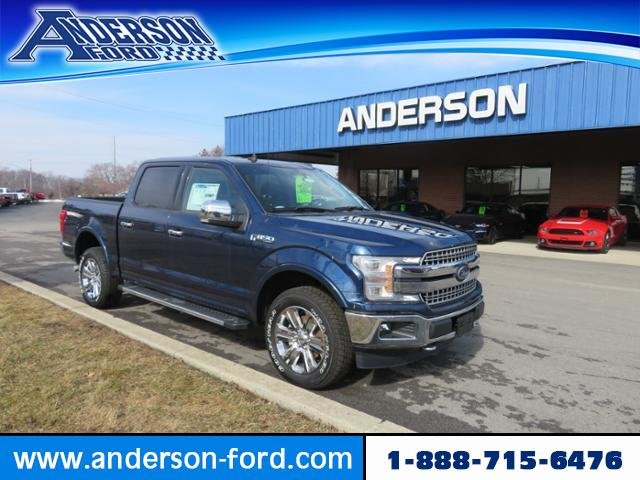 2019 Blue Jeans Metallic Ford F-150 LARIAT 4WD SuperCrew 5.5 Box Automatic Truck Gas V6 3.5L Engine 4 Door 4X4