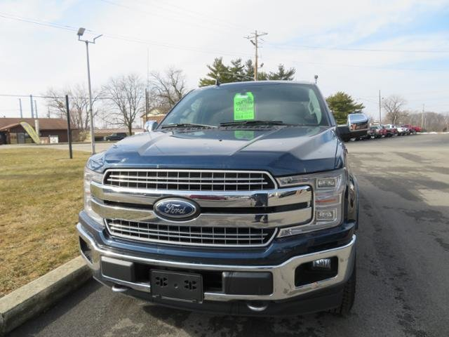 2019 Blue Jeans Metallic Ford F-150 LARIAT 4WD SuperCrew 5.5 Box 4X4 Gas V6 3.5L Engine 4 Door Truck