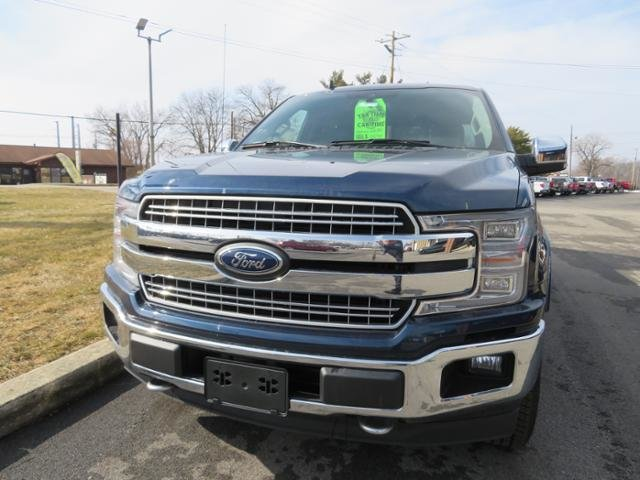 2019 Blue Jeans Metallic Ford F-150 LARIAT 4WD SuperCrew 5.5 Box Gas V6 3.5L Engine 4 Door Automatic