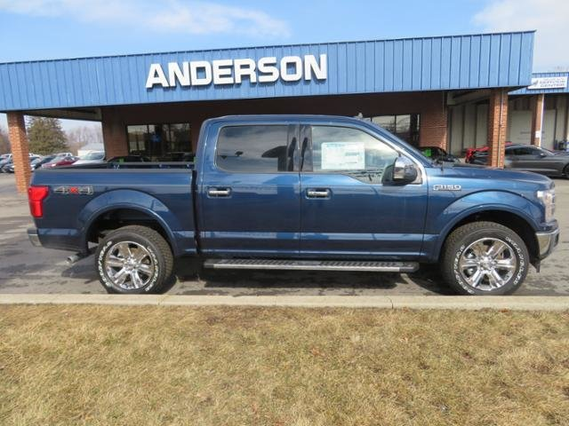 2019 Blue Jeans Metallic Ford F-150 LARIAT 4WD SuperCrew 5.5 Box Automatic Truck Gas V6 3.5L Engine 4X4 4 Door