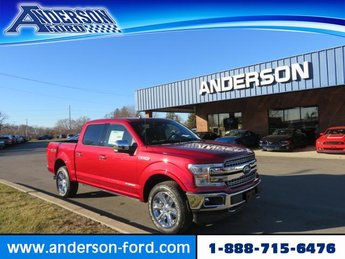 2019 Ruby Red Metallic Tinted Clearcoat Ford F-150 LARIAT 4WD SuperCrew 5.5 Box 4X4 Automatic Diesel V6 3.0L Engine Truck 4 Door