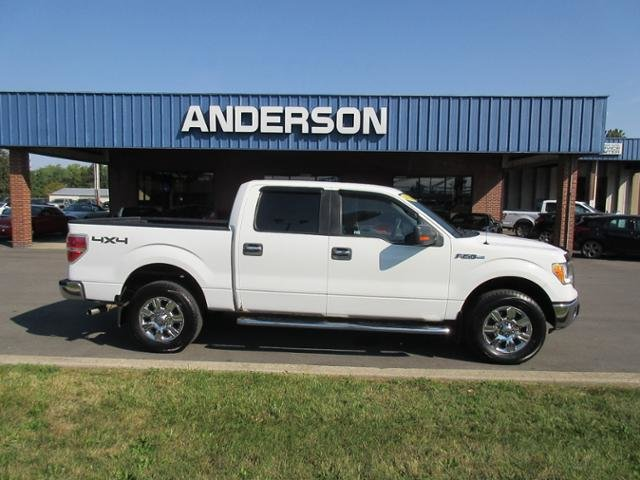2010 Oxford White Ford F-150 4WD SuperCrew 145 XLT Automatic Gas/Ethanol I8 5.4L Engine 4X4 4 Door Truck