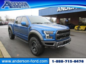 2018 Lightning Blue Ford F-150 Raptor 4WD SuperCrew 5.5 Box 4 Door 4X4 Automatic Gas V6 3.5L Engine
