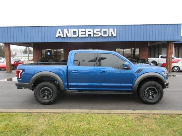2018 Lightning Blue Ford F-150 Raptor 4WD SuperCrew 5.5 Box Gas V6 3.5L Engine Truck 4X4 Automatic 4 Door