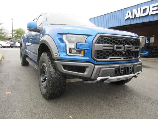 2018 Lightning Blue Ford F-150 Raptor 4WD SuperCrew 5.5 Box 4 Door Automatic Truck Gas V6 3.5L Engine