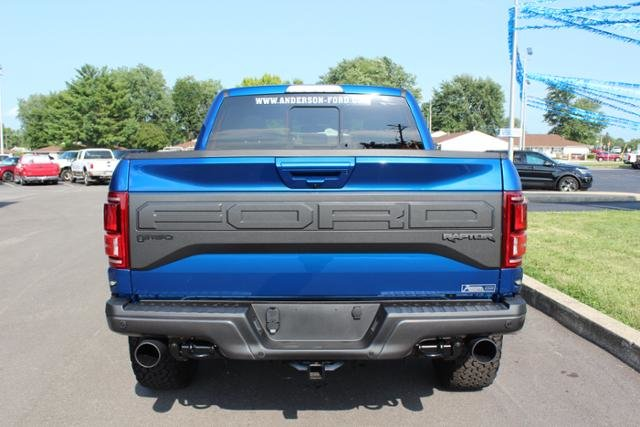 2018 Lightning Blue Ford F-150 Raptor 4WD SuperCrew 5.5 Box Automatic 4 Door Gas V6 3.5L Engine