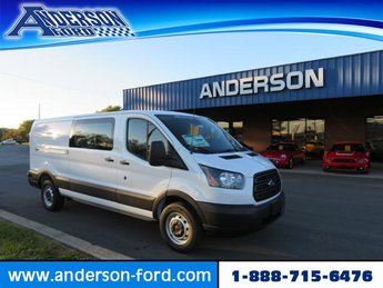 2019 Oxford White Ford Transit T-150 148 Low Rf 8600 GVWR Sliding Gas/Ethanol V6 3.7L Engine RWD 3 Door