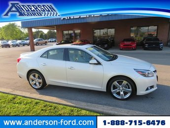 2014 White Diamond Tricoat Chevy Malibu 4dr Sdn LTZ w/2LZ Automatic Sedan FWD 4 Door Gas I4 2.0L Engine