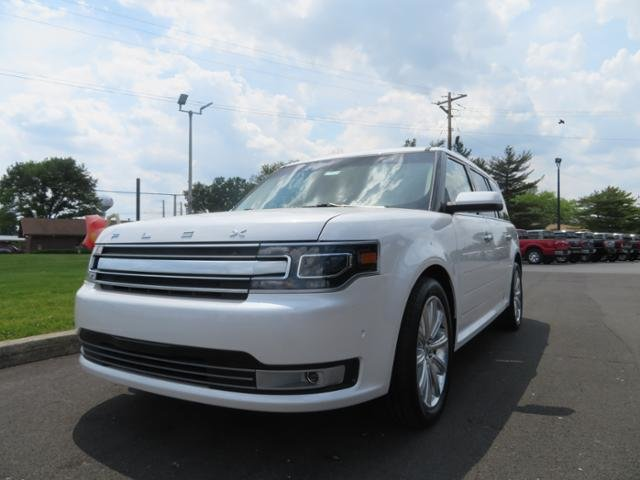 2018 White Platinum Metallic Tri-Coat Ford Flex Limited EcoBoost AWD SUV Automatic 4 Door Gas V6 3.5L Engine AWD