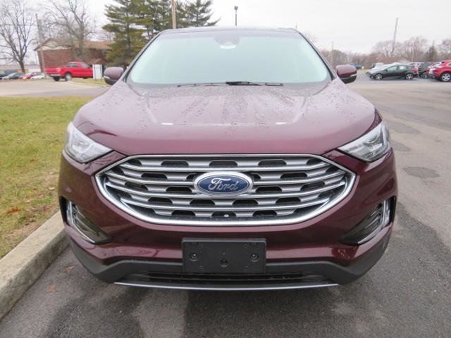 2019 Burgundy Velvet Metallic Tinted Clearcoat Ford Edge SEL FWD SUV 4 Door FWD Automatic Gas I4 2.0L Engine