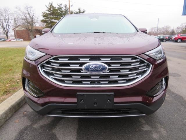2019 Burgundy Velvet Metallic Tinted Clearcoat Ford Edge SEL FWD FWD Automatic 4 Door Gas I4 2.0L Engine