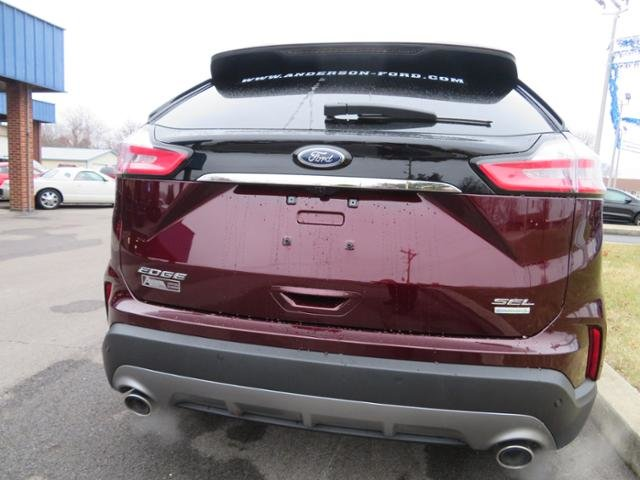 2019 Burgundy Velvet Metallic Tinted Clearcoat Ford Edge SEL FWD Automatic FWD Gas I4 2.0L Engine SUV
