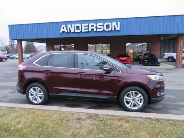 2019 Burgundy Velvet Metallic Tinted Clearcoat Ford Edge SEL FWD Automatic Gas I4 2.0L Engine FWD 4 Door SUV