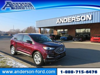 2019 Burgundy Velvet Metallic Tinted Clearcoat Ford Edge SEL FWD Gas I4 2.0L Engine SUV 4 Door FWD