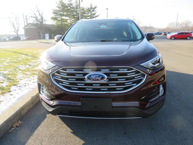 2019 Burgundy Velvet Metallic Tinted Clearcoat Ford Edge SEL FWD Gas I4 2.0L Engine Automatic SUV FWD