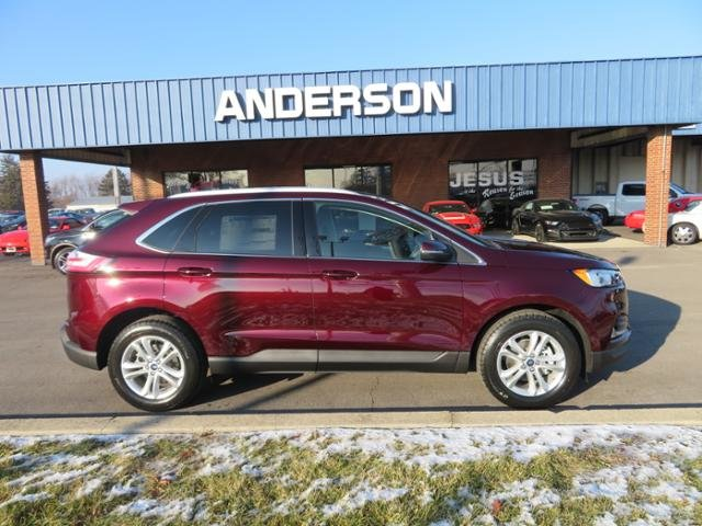 2019 Burgundy Velvet Metallic Tinted Clearcoat Ford Edge SEL FWD Gas I4 2.0L Engine Automatic SUV