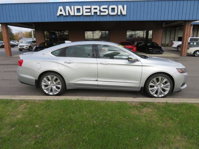 2015 Silver Ice Metallic Chevy Impala 4dr Sdn LTZ w/2LZ Automatic FWD 4 Door Gas/Ethanol V6 3.6L Engine