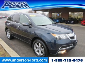 2012 Bali Blue Pearl Acura MDX AWD 4dr Gas V6 3.7L Engine SUV Automatic AWD 4 Door