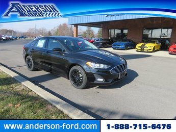 2019 Agate Black Ford Fusion SE FWD Sedan Gas I4 1.5L Engine 4 Door FWD