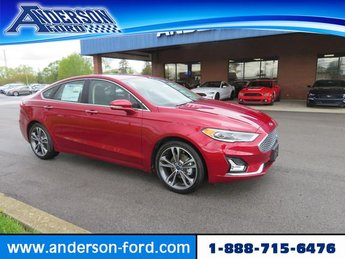 2019 Ruby Red Metallic Tinted Clearcoat Ford Fusion Titanium FWD Sedan Automatic Gas I4 2.0L Engine FWD 4 Door
