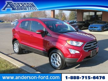 2018 Ruby Red Metallic Tinted Clearcoat Ford EcoSport SE 4WD Automatic Gas I4 2.0L Engine 4X4 SUV