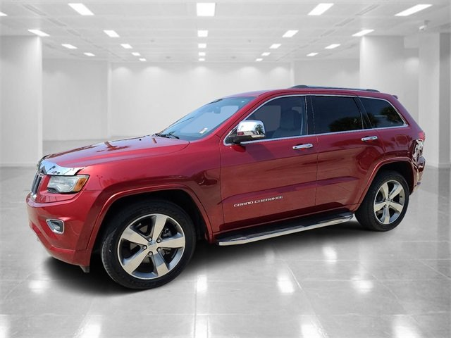 2014 Deep Cherry Red Crystal Pearlcoat Jeep Grand Cherokee Overland Automatic 4 Door 3.6L V6 Flex Fuel 24V VVT Engine
