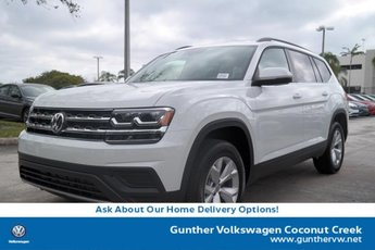 2020 Pure White Volkswagen Atlas 2.0T S Intercooled Turbo Regular Unleaded I-4 2.0 L/121 Engine 4 Door FWD Automatic