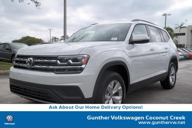 2020 Pure White Volkswagen Atlas 2.0T S FWD 4 Door SUV Automatic Intercooled Turbo Regular Unleaded I-4 2.0 L/121 Engine
