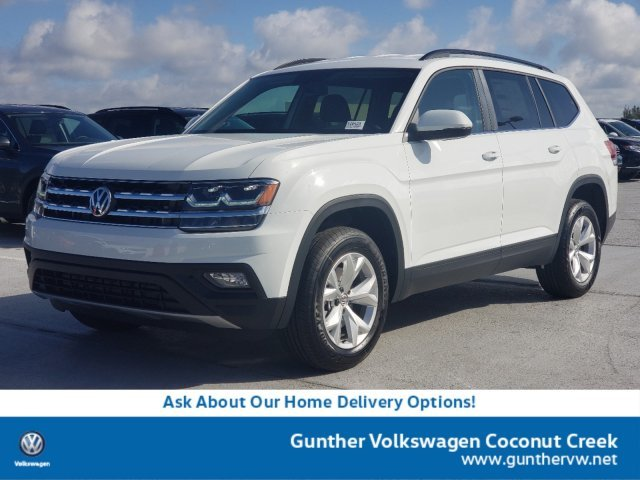 2020 Pure White Volkswagen Atlas 2.0T SE Intercooled Turbo Regular Unleaded I-4 2.0 L/121 Engine FWD SUV Automatic