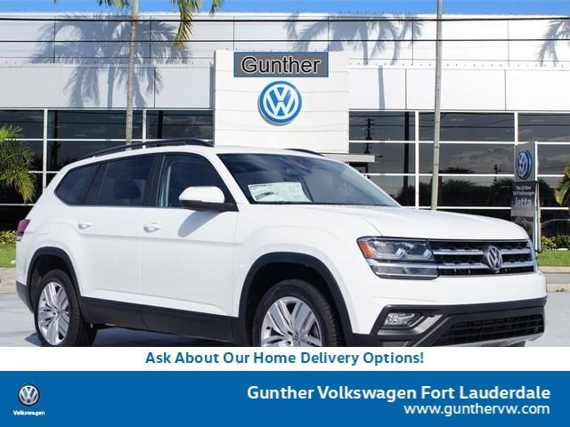 2020 Pure White Volkswagen Atlas 2.0T SE w/Technology FWD 4 Door Intercooled Turbo Regular Unleaded I-4 2.0 L/121 Engine Automatic