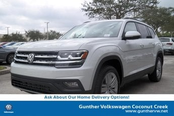 2020 Pure White Volkswagen Atlas 2.0T SE w/Technology FWD SUV 4 Door Intercooled Turbo Regular Unleaded I-4 2.0 L/121 Engine