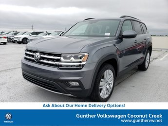 2020 Platinum Gray Metallic Volkswagen Atlas 2.0T SE w/Technology 4 Door SUV Intercooled Turbo Regular Unleaded I-4 2.0 L/121 Engine FWD