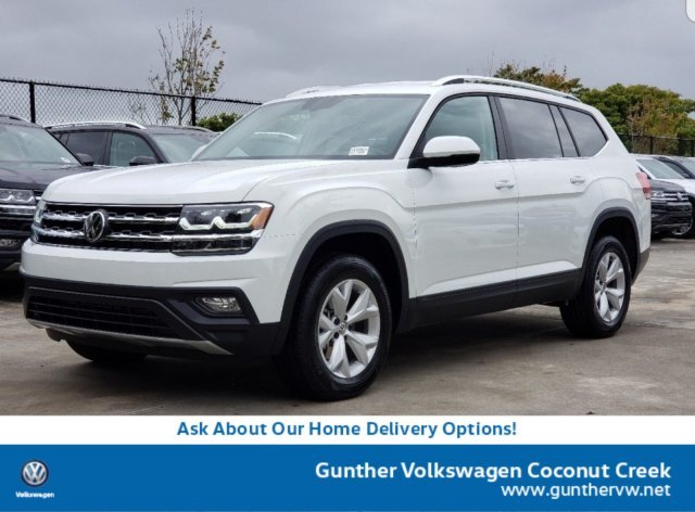 2020 Pure White Volkswagen Atlas 2.0T SE w/Technology Intercooled Turbo Regular Unleaded I-4 2.0 L/121 Engine SUV Automatic FWD