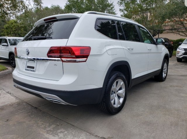 2020 Pure White Volkswagen Atlas 2.0T SE w/Technology Intercooled Turbo Regular Unleaded I-4 2.0 L/121 Engine FWD Automatic 4 Door