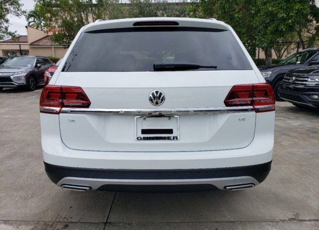 2020 Pure White Volkswagen Atlas 2.0T SE w/Technology SUV Automatic FWD 4 Door Intercooled Turbo Regular Unleaded I-4 2.0 L/121 Engine