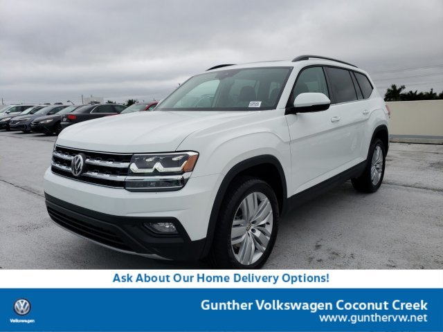 2020 Pure White Volkswagen Atlas 2.0T SE w/Technology FWD Automatic Intercooled Turbo Regular Unleaded I-4 2.0 L/121 Engine