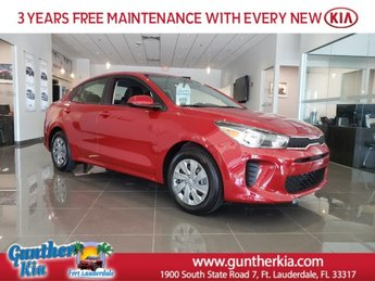 2020 Kia Rio S Sedan FWD Automatic Regular Unleaded I-4 1.6 L/97 Engine