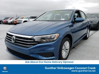 2020 Blue Silk Metallic Volkswagen Jetta S 4 Door Sedan Manual FWD Intercooled Turbo Regular Unleaded I-4 1.4 L/85 Engine