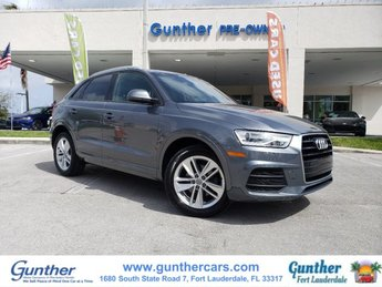 2017 Monsoon Gray Metallic Audi Q3 Premium FWD SUV Intercooled Turbo Premium Unleaded I-4 2.0 L/121 Engine 4 Door Automatic